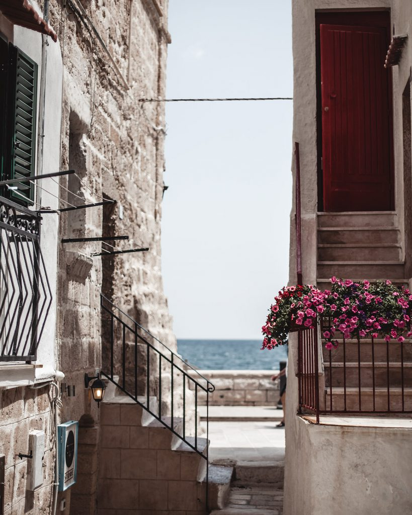 street view, Monopoli, Puglia, Italy, white houses