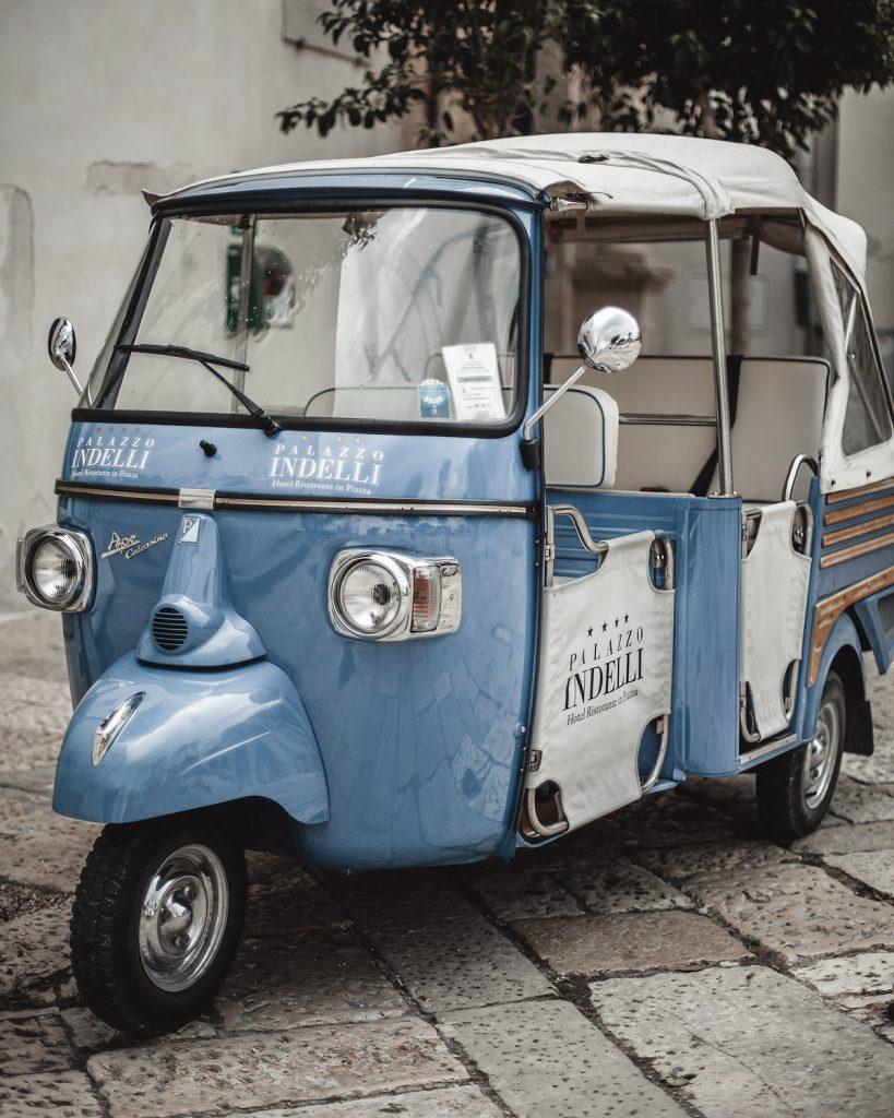 classic car, taxi, Monopoli, Puglia, Italy, white houses