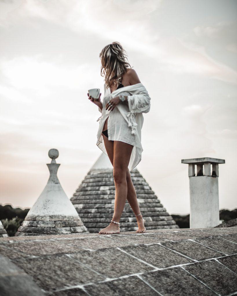 roof top, sunrise in puglia, Italy
