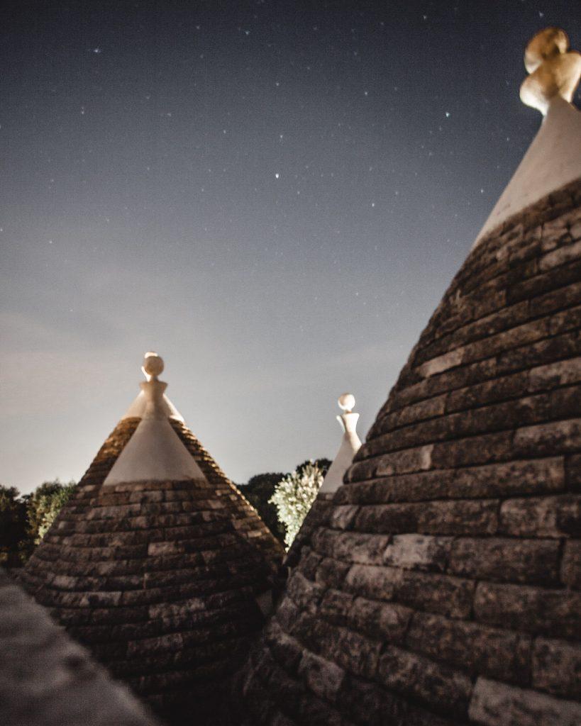 night, Trullo, Italy, Puglia