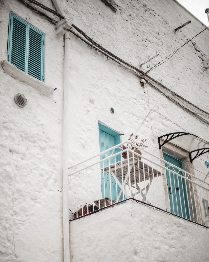 balcony, Ostuni, white pearl of Puglia