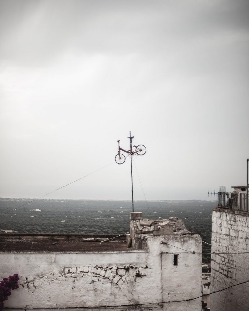 bicycle, Ostuni, white pearl of Puglia