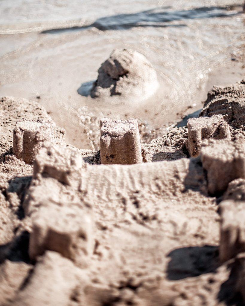 sand castle, Salento, Punta Prosciutto beach