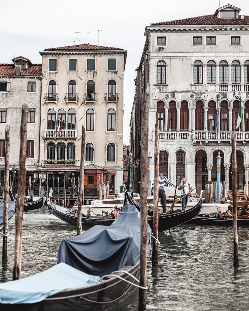 a partial view of grand canal in venice