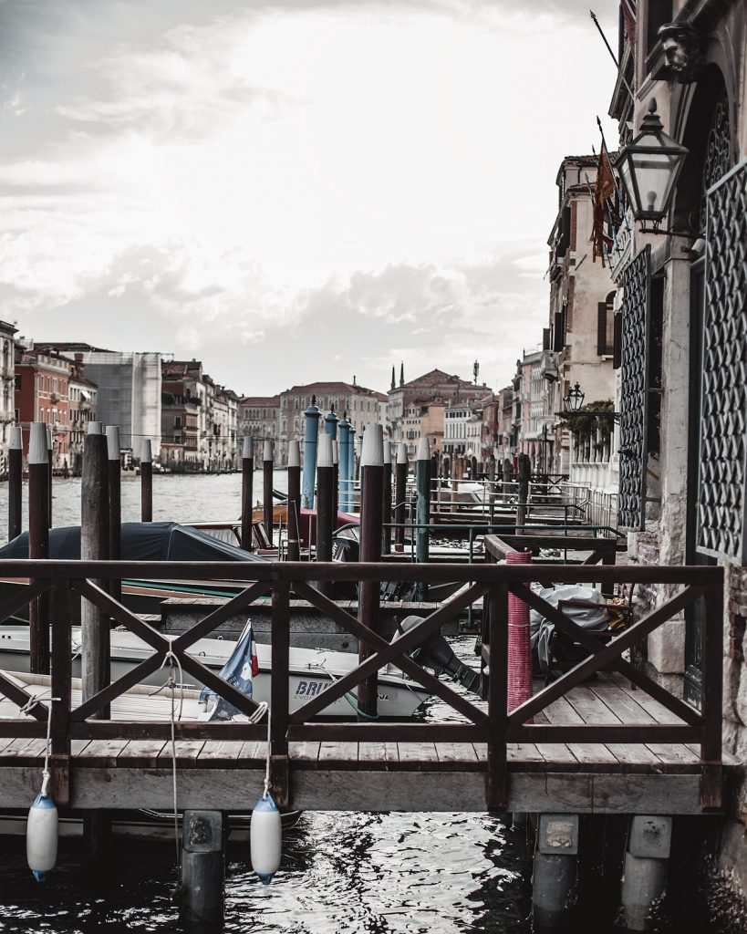 partial view of grand canal in venice